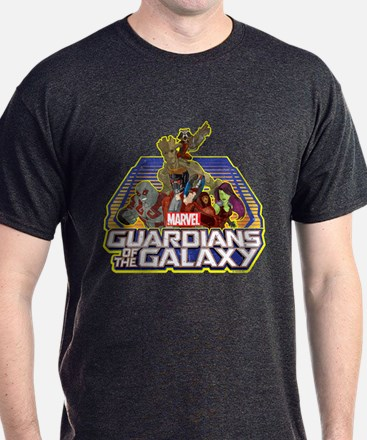 GOTG Team Retro Distressed T-Shirt