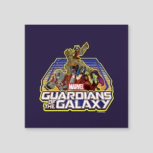 "GOTG Team Retro Distressed Square Sticker 3"" x 3"""