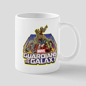 GOTG Team Retro Distressed Mug