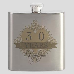 30th Wedding Anniversary Flask