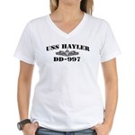 USS HAYLER Women's V-Neck T-Shirt