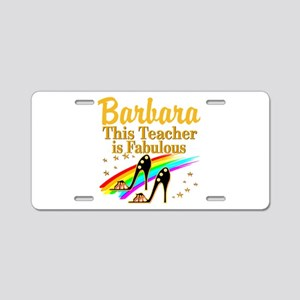BEST TEACHER Aluminum License Plate
