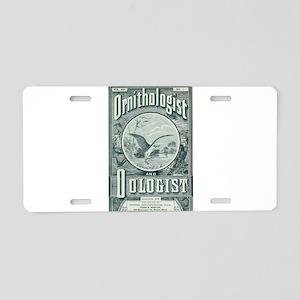 """Ornithologist"" Aluminum License Plate"