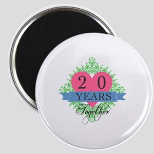 20th Wedding Anniversary Magnet