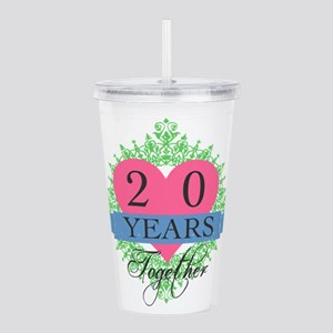 20th Wedding Anniversa Acrylic Double-wall Tumbler