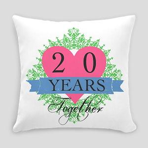 20th Wedding Anniversary Everyday Pillow