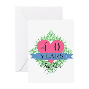 40th anniversary greeting cards cafepress m4hsunfo