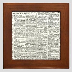 News Framed Tile