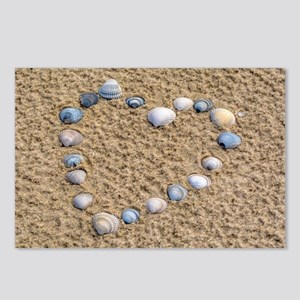 Seashell heart Postcards (Package of 8)