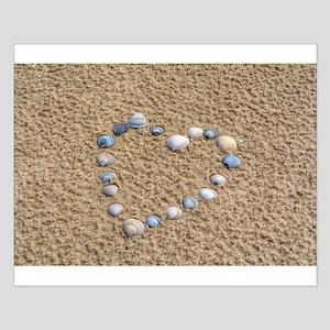 Seashell heart Posters