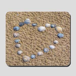 Seashell heart Mousepad