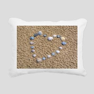 Seashell heart Rectangular Canvas Pillow