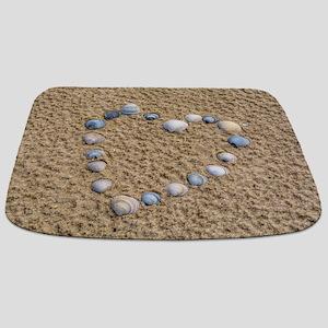 Seashell heart Bathmat