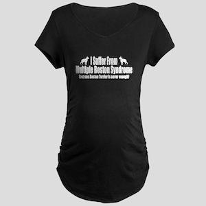 Boston Terrier Maternity Dark T-Shirt