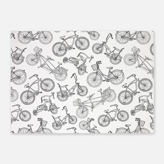 Bicycle Mania 5'x7'Area Rug