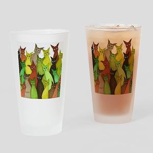 many vermont stray cats Drinking Glass