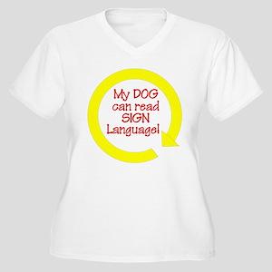 Sign Language Women's Plus Size V-Neck T-Shirt