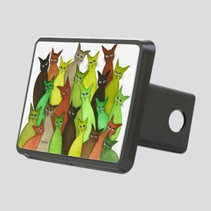 many vermont stray cats.jp Rectangular Hitch Cover