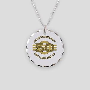 50th Birthday Humor Necklace Circle Charm