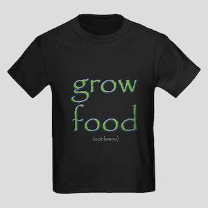 Grow Food Not Lawns Kids Dark T-Shirt