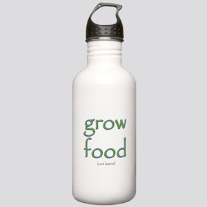 Grow Food Not Lawns Stainless Water Bottle 1.0L