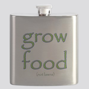 Grow Food Not Lawns Flask