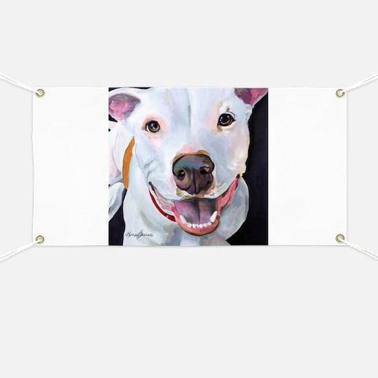 Charlie The Pitbull Dog Portrait Banner