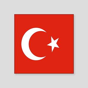 Square Turkish Flag Sticker
