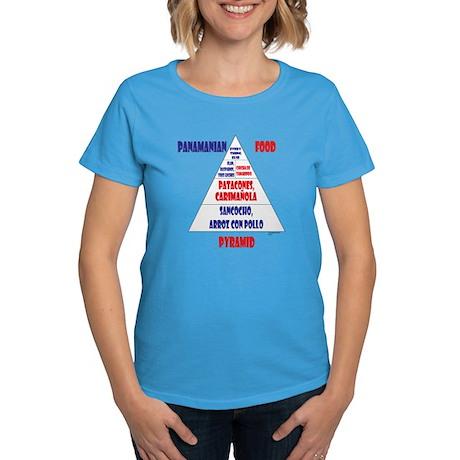 Panamanian Food Pyramid Women's Dark T-Shirt