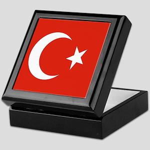Square Turkish Flag Keepsake Box