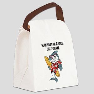 Manhattan Beach, California Canvas Lunch Bag