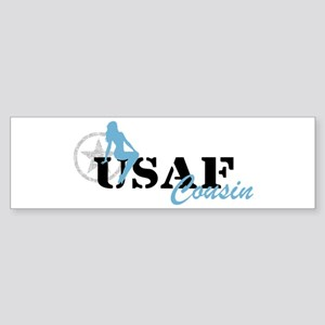 Sexy USAF Cousin - Blue Bumper Sticker