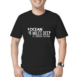 The Ocean is 6 Miles D Men's Fitted T-Shirt (dark)