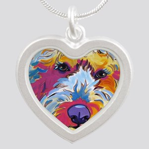 Sunshine The Doodle Silver Heart Necklace