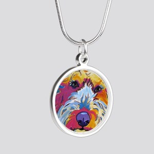 Sunshine The Doodle Silver Round Necklace