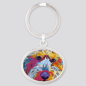 Sunshine The Doodle Oval Keychain