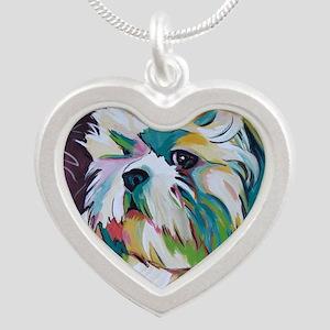Shih Tzu - Grady Silver Heart Necklace