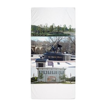 Albany Riverfront Attractions Beach Towel