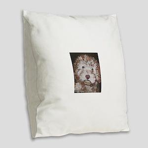 Lily Burlap Throw Pillow