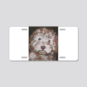 Lily Aluminum License Plate