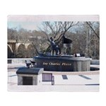 Ray Charles Plaza Throw Blanket