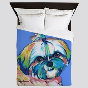 Bam Bam the Shih Tzu Queen Duvet