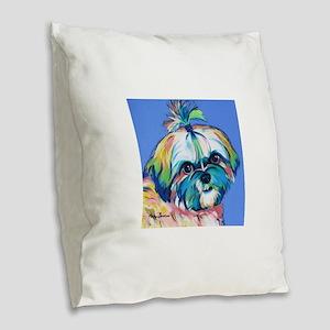 Bam Bam the Shih Tzu Burlap Throw Pillow