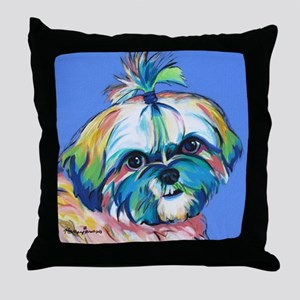 Bam Bam the Shih Tzu Throw Pillow