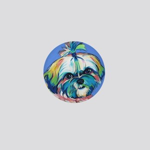 Bam Bam the Shih Tzu Mini Button