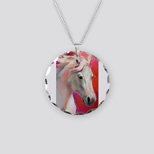 A Horse Named Blue Necklace Circle Charm