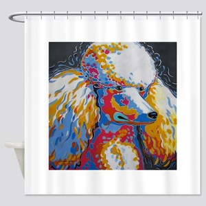 Daisy the Standard Poodle Shower Curtain