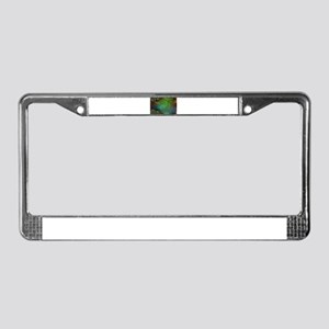 Iridescent Abstract Bubbles License Plate Frame
