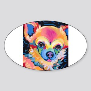 Neon Pomeranian or Chihuahua Portrait Sticker