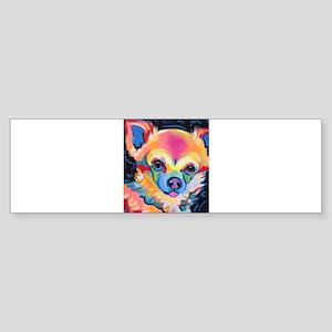 Neon Pomeranian or Chihuahua Portra Bumper Sticker